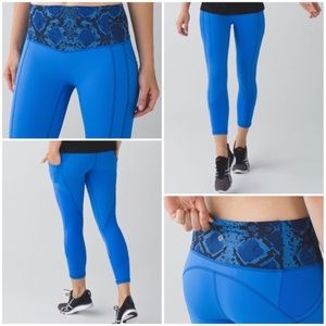Lululemon All The Right Places Crop Pipe Dream